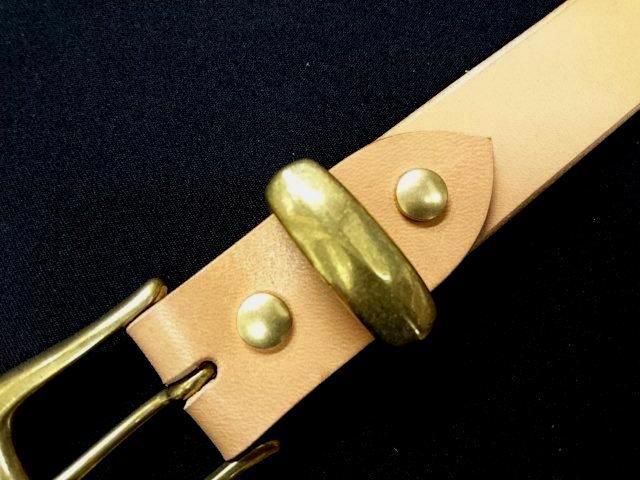 真鍮製ベルトループ(サルカン)30mm幅