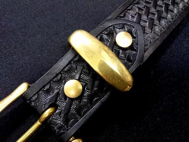 真鍮製ベルトループ(サルカン)35mm幅