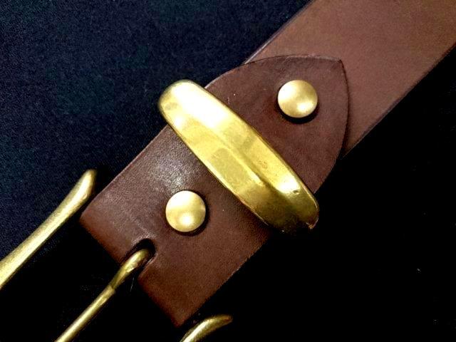 真鍮製ベルトループ(サルカン)40mm幅