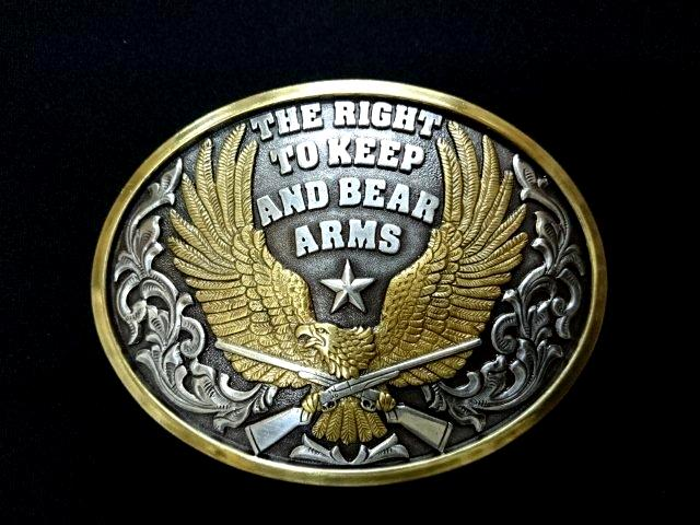 NOCONA BUCKLE  THE RIGHT TO KEEP AND BEAR ARMS