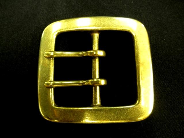 バックル 40mm ギャリソン 真鍮 ダブルピンバックル Y297-40BW