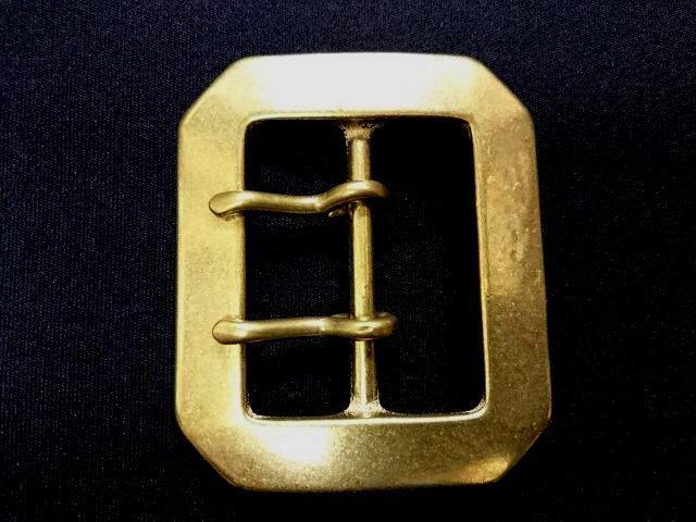 バックル  45mm ギャリソンダブルピンバックル 真鍮 Y314BW-45