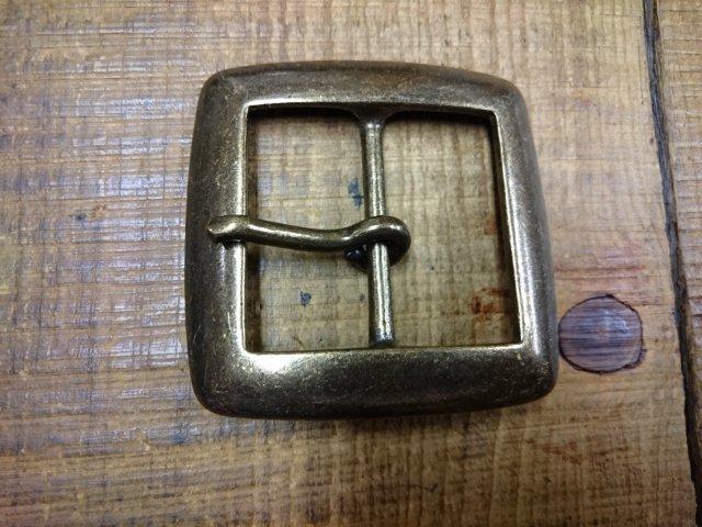 スタンダードバックル 40mm 真鍮ギャリソンバックル アンティークブラス 408-40/No,20