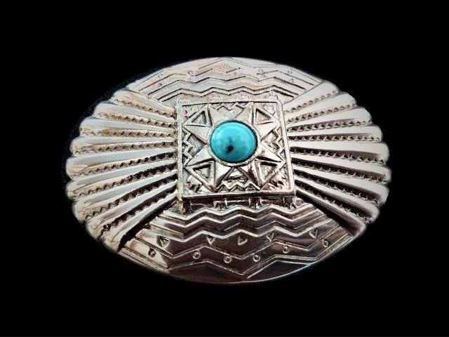 IVAN TROPHY BUCKLE  Turquoise Stone