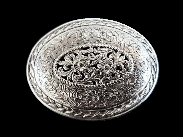 IVAN TROPHY BUCKLE Braided Floral Carving