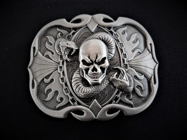 IVAN TROPHY BUCKLE Skull Snake