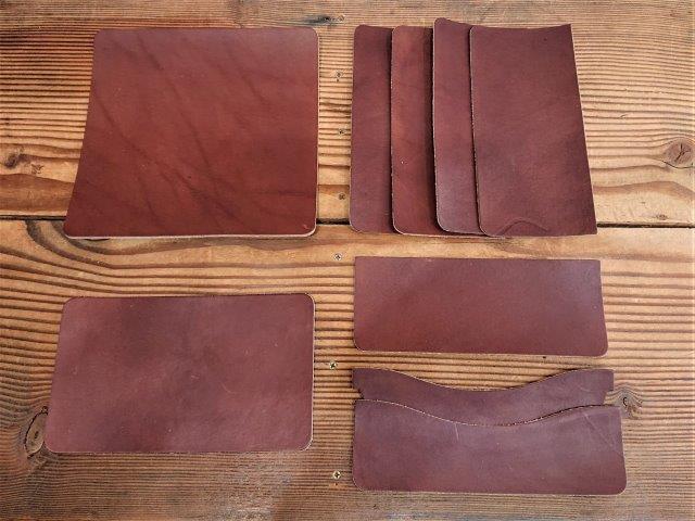 手縫いレザーロングウォレット キット/栃木レザー【チョコレートブラウン】 フラップ無し