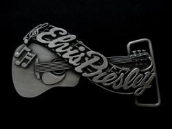 バックル  SKELB9  Elvis Presley's Name and Guitar Belt Buckle