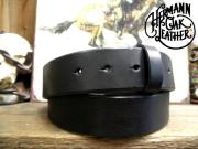 アメリカ製ハーマンオークレザーベルト【ブラック】40mm/付属バックルなし ベルト帯のみ