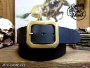 アメリカ製ハーマンオークレザーベルト【ブラック】45mm/ギャリソンバックル付ベルトお買い得セット