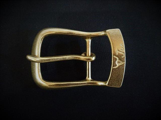 JUN COMPANYオリジナルデザインバックル 40mm 太ピン帆型バックル 真鍮無垢