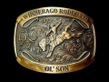 バックル MONTANA BUCKLE  A802DBC  Dale Brisby Saddle Bronc Trophy Buckle