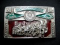 Vintage Belt Buckle   Budweiser820