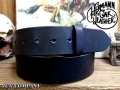 アメリカ製ハーマンオークレザーベルト【ブラック】45mm/付属バックルなし ベルト帯のみ