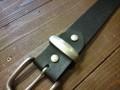 ベルトループ(サルカン)35mm幅 真鍮製ニッケル艶けしシルバーカラー
