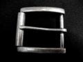 Tandy Leather Buckle DUNHAM ローラー付バックル ブラックシルバーカラー 38mm