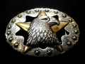 Tandy Leather EAGLE STAR TROPHY BUCKLE 1-1/2in 38mm