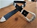 スロッテドコンチョベルト【Tandy Leather 4 CONCHO 】 コンチョ4個タイプ ベルトカラーが選べます 38mm