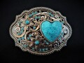 IVAN TROPHY BUCKLE Turquoise Heart