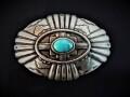 IVAN TROPHY BUCKLE Southwest Turquoise Stone