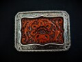 IVAN TROPHY BUCKLE Hand Tooled Floral