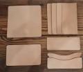 手縫いレザーロングウォレット キット/栃木レザー【生成】 フラップ無し