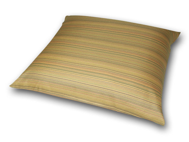座布団カバー 彩り縞紋 黄