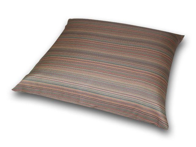 座布団カバー 彩り縞紋 茶紫