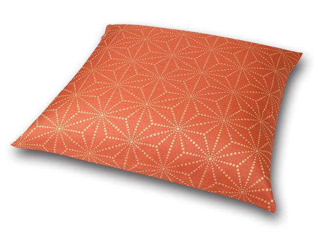 座布団カバー 彩り麻の葉 橙