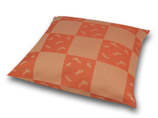 座布団カバー 彩り市松 橙