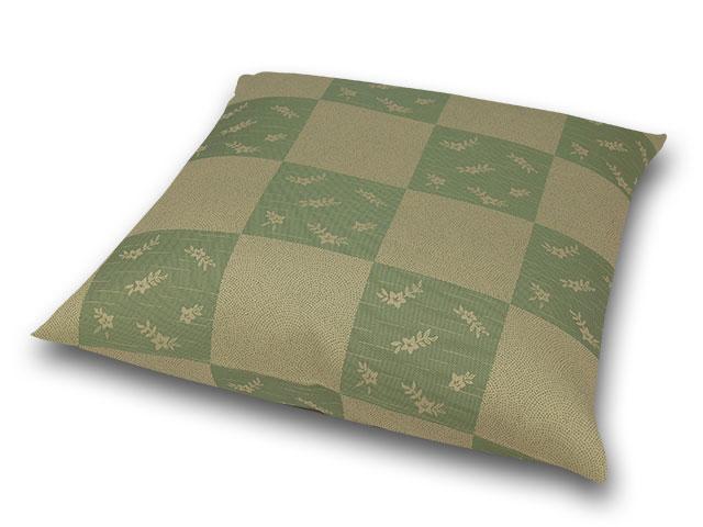 座布団カバー 彩り市松 緑