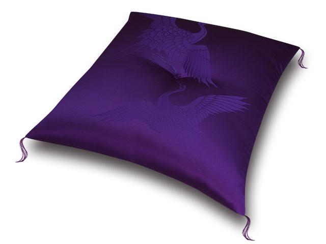 祝寿座布団 鶴寿紫紫 十人色彩