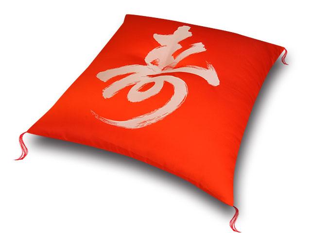 祝寿座布団 鶴寿赤白 十人色彩