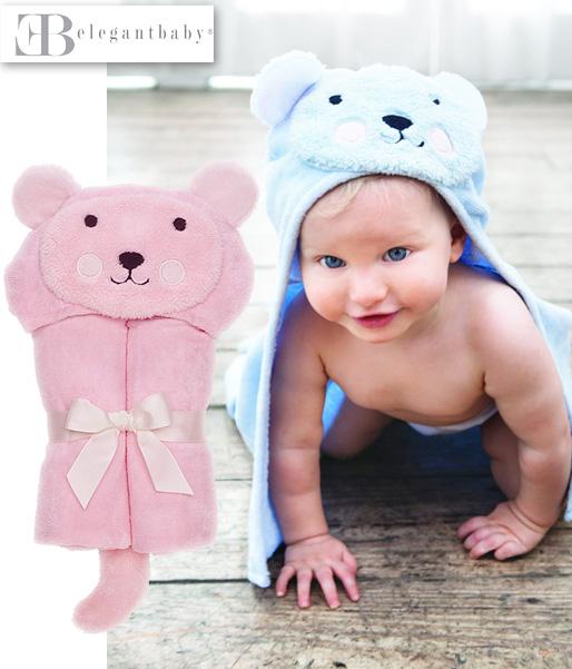 【ベビー】Elegantbaby エレガントベビー・ベアー バスラップ(コットン100%)【名入れ可】出産祝い ギフト プレゼント タオル 赤ちゃん
