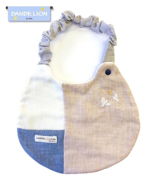 【ベビー】パッチワークスタイ(よだれかけ)オーガニックコットン100% 【3枚までネコポス可】 出産祝い 赤ちゃん ギフト プレゼント