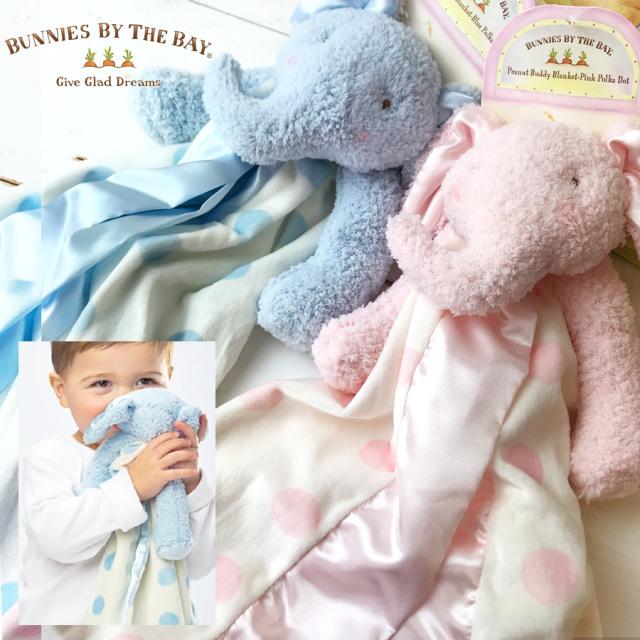 [ベビー]Bunnies By The Bay バニーズバイザベイ【赤ちゃんの安心毛布】ねんね抱っこ毛布 0歳から
