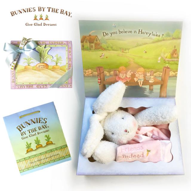 [ギフトラッピング]Bunnies By The Bay バニーズバイザベイ専用ギフトボックス 手提げ付き ご出産祝い 誕生祝い