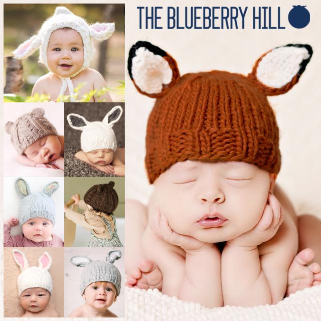 【ベビー・キッズ】ブルーベリーヒル ニットキャップ クマ耳帽子 ベビー帽子 ニット帽