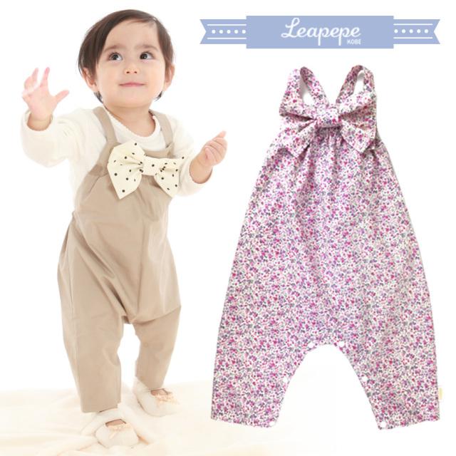 【ベビー】レアペペ〈RIBBON〉おめかしサロペット「サロペぺ」 赤ちゃん 女の子