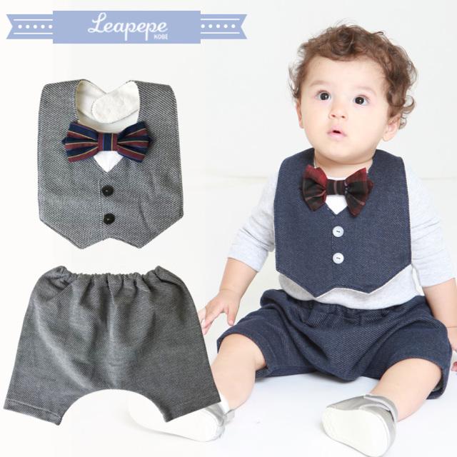 【ベビー】レアペペ〈CONAN〉 おめかしエプロンとパンツのセット〈コナン〉男の子/ベビー 赤ちゃん スタイ エプロン&ブルマSET  leapepe おめかしセット エプロン よだけかけ 6か月-2才ごろまで 出産祝い プレゼント 日本製