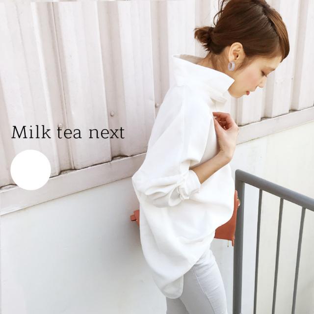 <Milk tea Next>ボリューム・プルオーバーブラウス(洗濯OK、授乳服、マタニティOK)【oyako02】【oyako06】