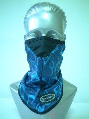 MSK-634 ストレッチフェイスマスク ブルーフレーム ファイヤー