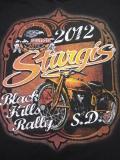 HDT-521-ST スタージス2012記念 オフィシャル半袖Tシャツ ビンテージバイク柄