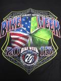 T-754 デイトナ2015記念 BIKE WEEK オフィシャル半袖Tシャツ 黒