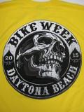T-758 デイトナ2015記念 BIKE WEEK オフィシャル半袖Tシャツ イエロー XL