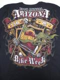 T-763-ST アリゾナ2015記念 BIKE WEEK オフィシャル半袖Tシャツ 黒 L