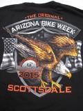 T-766-ST アリゾナ2015記念 BIKE WEEK オフィシャル半袖Tシャツ 黒 L