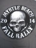 T-775 2014記念  MYRTLE BEACHラリー 半袖Tシャツ グレー XL