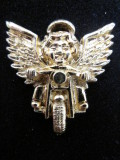 STP-501 バイカー天使のお守り ピン レア物  色 ゴールド