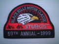 STW-20-99 スタージス1999記念ワッペン